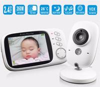 Bebek Monitörü VB603 3.2 inç LCD IR Gece Görüş 2 yönlü Konuşma 8 Ninniler Sıcaklık monitör Dijital video dadı radyo bebek bakıcısı