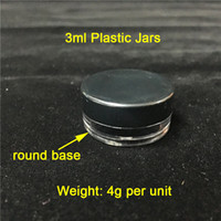Cheap 3ML 3G Black Lids Plastic Containers Smoke Jars Wholes...