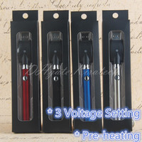 510 ön ısıtma vape kalem VV ECIG pil buharlaştırıcı A3 CE3 Cam Seramik Bobin Kartuşları için 3 Gerilim Ayarı Buhar