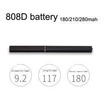 Qualität 808d thread elektronische Zigarette Batterie 180mAh 210mah 280mAh Batterie Rauch im Freien fit CE4 Amigo Liberty VS Bud Touch 510 Batterie