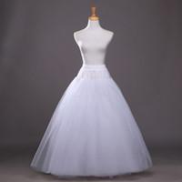 2017 Enagua Blanca Caliente para Una Línea de Vestido de Accesorios de La Boda de la Underskirt Tamaño Libre Crinolina En Stock novia enaguas
