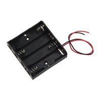 Hot- sale 5. 7cm x 6. 2cm x 1. 5cm Black With 4 Slots AA Power B...