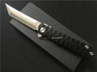 OEM! FRESCO faca punho New TwoSun Tanto completa T-Alloy D2 Lâmina Rolamentos Rápido Aberto Abrir bolso caça ao ar livre faca dobrável EDC