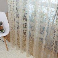 designer european style jacquard leaf design tulle fabrics sheer curtains for balcony fabric sheer curtains