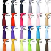 All'ingrosso- Sottile cravatta nera stretta per uomo 5cm Casual Freccia rossa cravatta Moda uomo Accessori Semplicità per cravatte formali per feste