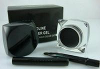 Neue Make-up Black Eyeliner Wasserdichte Gel Liner + Free Pinsel 5,5g 1 stücke