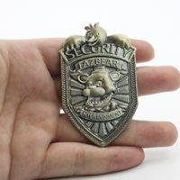 Gorąca sprzedaż pięć nocy w Metalu Freddy'ego Vintage Freddy Security Badge Pin FNAF Cosplay