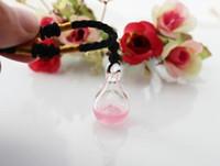 Collier de bouteille de diffuseur d'arome de 18x32MM avec le trou inférieur (6 couleurs), pendentif de fiole d'arome, huile essentielle de verre de murano pendent