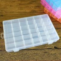 إفراغ صندوق تخزين شفافة من البلاستيك القابل للإزالة DIY مجوهرات Maskeup منظم متعدد الوظائف التجميل حاويات سطح المكتب 36 شعرية 5 6sk D R