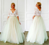 V- neck Half Sleeves A- line Bridal Dresses Vintage Wedding Go...