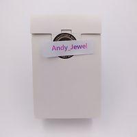 En gros exquis Mini Boîtes de papier blanc de haute qualité Boîte-cadeau 9 * 6 * 3cm pour pandora style bijoux charmes de charmes de perles de perles d'emballage