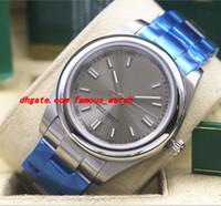 Высокое качество неиспользованные 39 мм стали часы модель 116000 Серебряный индекс циферблат с автоподзаводом механизм механические часы мужские часы