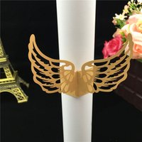 50Pcs Free Shipping New Towel Buckle Laser Cut Angel Wings S...