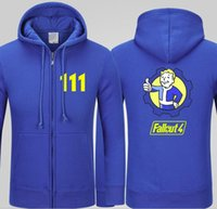 Mens Casual Game Fallout 4 Hoodies Printing Pattern Black Bl...