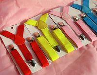 29 Cores Lisas Suspensórios Suspensórios Crianças Suspender Clip-on Y-Back Meninos Meninas Crianças Suspensão Elástica Ajustável