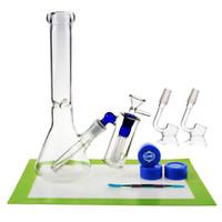 REANICE BOX новейший дешевый стеклянный ресайклер 14.5 мм Jonit Clear + силиконовый коврик/кремниевый воск/красочные инструменты ложка мензурка бонг дешевый Бонг
