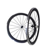 Rodas De Bicicleta de carbono 700C Bicicleta de Estrada de Carbono + Liga De Alumínio Freio 38mm de Profundidade * 23mm Largura Clincher Aro 3 K / UD Brilhante / Superfície Fosco