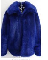 Kış yeni erkek kürk mantolar kürk jaqueta Couro erkek deri ceket avrupa amerika casaco masculino mavi büyük beden S faux - 5XL