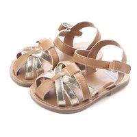 여름 샌들 아기 신발 하드 솔 유아 소녀 첫 번째 워커 샌들 아이들을위한 샌들
