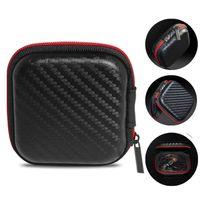 EVA Fermuar Kulaklık Kulakiçi Sert Kılıflar Kutu Taşıma Saklama Torbaları Kılıfı Taşınabilir PU Kapak Tutucu Için Kart USB Kablosu Stereo Bluetooth Kulaklık