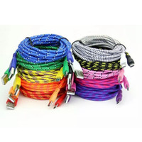 3FT 6FT 10FT Nylon Fiber Fabric Braided Data Cable Knit Cord...