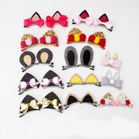 Everweekend Baby Girls Cartoon Bunny Cat Ears Bow Hair Clips...