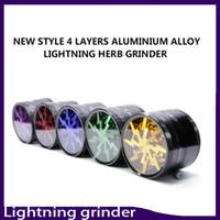 Nieuwste Grinder Skylight Lightning 63mm Aluminium Legering Grinder 4 Layer Filter Droog Kruiden Crusher Fit Twisty Glass Blunt 0266136-1