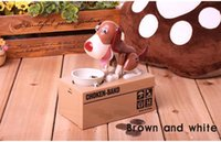 New Designer Puppy Hungry Eating Dog Coin Bank Money Saving ...