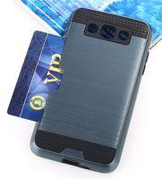 갑옷 TPU + PC 하이브리드 브러시 신용 카드 슬롯 케이스 삼성 갤럭시 Z3 참고 3 GRANG PRIME G530 참고 8 100pcs / lo
