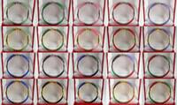 Braccialetto del polsino del partito di cerimonia nuziale della giada del nero di verde di 18 KGP di verde poco costoso all'ingrosso rosso del braccialetto no scatola