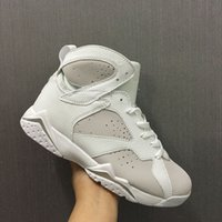 (with box) AAA+ quality air retro 7 VII Pure Platinum pure m...