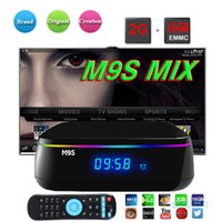 M9S MIX Android Smart TV CAIXA Amlogic S912 64bit Octa-core 2G + 16G 4K Streaming Mídia Player Dual WiFi 2.4G + 5G BT4.0