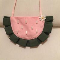 Vattenmelon design mynt handväska härliga barn väska 10st / lot bomull väska hotsale halv rundväska mjuk liten storlek söt baby handväska
