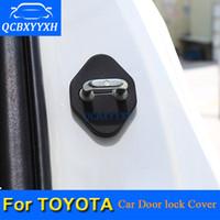 4 шт./лот замок двери автомобиля защитная крышка для Toyota Corolla Camry Highlander Vios RAV4 Prado двери автомобиля замок украшения авто крышка