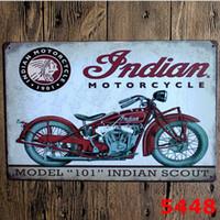 Decoração do feriado Da Motocicleta Do Vintage Artesanato Sinal Da Lata Retro Pintura De Metal Antigo Ferro Cartaz Bar Pub Sinais Arte Da Parede Adesivo