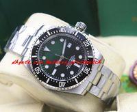 Reloj de pulsera de lujo Pulsera de acero inoxidable de cerámica Negro Green Dial 116610 40mm Hombres Relojes mecánicos automáticos Nueva Llegada
