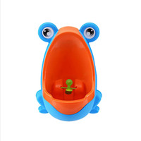 Красочные лягушка мальчиков Незначительное Обучение писсуара вертикальный настенный Potty Groove с кружения Target для Kid Ребенок