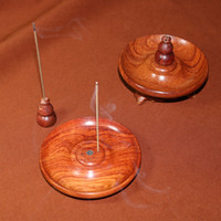 Atacado incenso varas bobinas ferramentas de suporte de incenso suporte de madeira decoração Multi-função Burma rosewood incenso queimador de madeira titular incensário