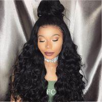 Бразильские девственные волосы дешевые парик полный кружева человеческих волос парики тела волны кружева передние парики для черных женщин