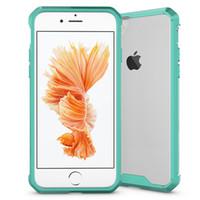 Casos de telefone de luxo para iphone 7 7 plus acrílico tampa traseira do telefone shell capa protetora conjuntos de borda transparente case