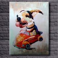 Чистые ручные потрясенные современные ABCTRACT Животная живопись животных Живопись для животных Прекрасная собака, на высоком качестве холста для домашнего декора Многоразмерные размеры