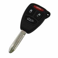 Garanti 100% 4 Boutons Panique Keyless Télécommande Fob Clé Shell Key Case Voiture Pour JEEP Chrysler Dodge AVEC Caoutchouc Bouton Pad Livraison Gratuite