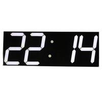 Оптом- Бесплатная доставка Большие цифровые настенные часы светодиодные дисплеи дистанционного управления обратный отсчет будильника будильник секундомер современный дизайн большой
