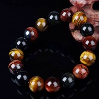 Wholesale- Unique 10mm New Tiger Eye Elegant Collar Gifts Buddha Bracelets Trendy Natural Stone Jewelry for Women Men