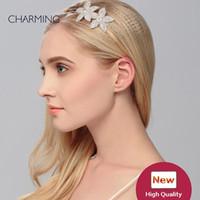 диадемы короны снежинка люкс жемчужина корона свадебные аксессуары для волос свадебный цветок волос лозы принцесса тиара блестящие аксессуары для волос