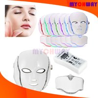 Best Gift LED Photon Facial&Neck Mask PDT 7 Color Purple Whi...
