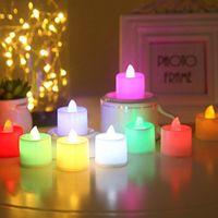 Fabrika Fiyat Işıkları 3.5 * 4.5 cm Pil Kumandalı Titreşimsiz Alevsiz LED Tealight Çay Mumlar Işık Düğün Doğum Günü Partisi Noel Dekorasyon