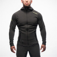 Wholesale- Mens Bodybuilding Hoodies -clothing Workout Shirts Hooded Suits Tracksuit Men Chandal Hombre Gorilla wear Animal