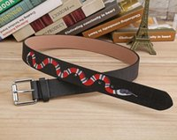 Hot black and green colors Snake pattern Mens Belts High Qua...