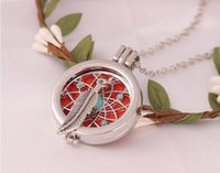 Antique Silver Censer Aromatherapy Locket Essential Oil Diff...
